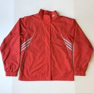 Adidas Track Jacket with Three Stripes Accent